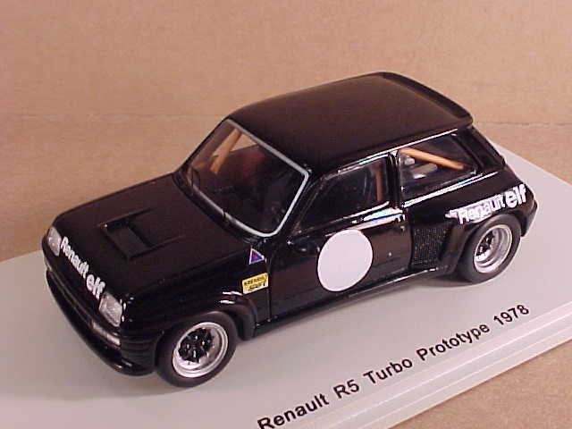 spark 1 43 resin 1978 renault r5 turbo prototype lhd black renault elf s3857 ebay. Black Bedroom Furniture Sets. Home Design Ideas