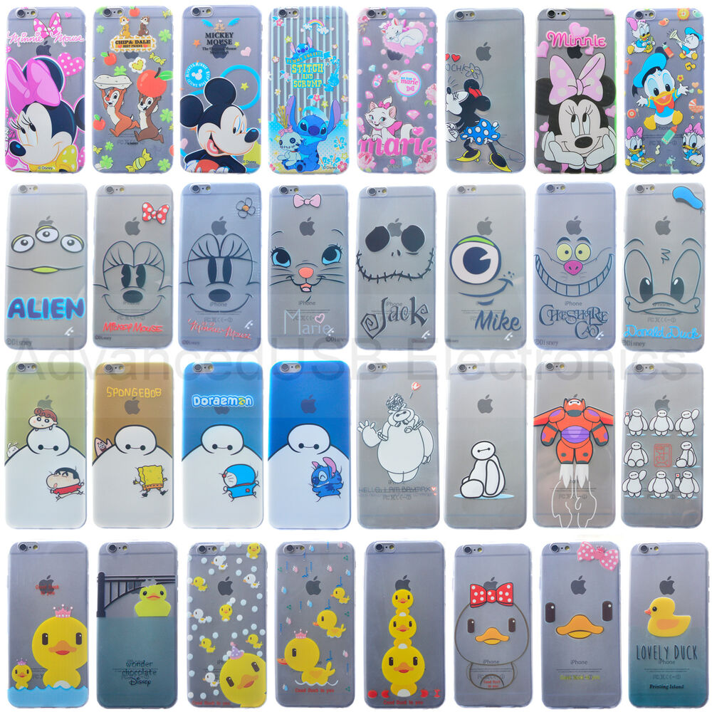 New Ultra Thin Cute Disney Soft TPU Clear Case Cover for iPhone 5/5S/6 ...