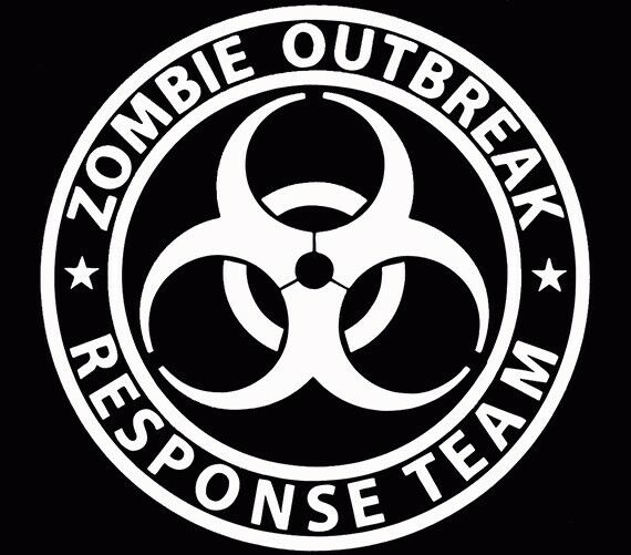Zombie Outbreak Response Team Walking Dead Car Decal ...