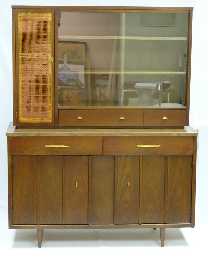 Rare 50 S Danish Design Mid Century Holman Walnut Hutch