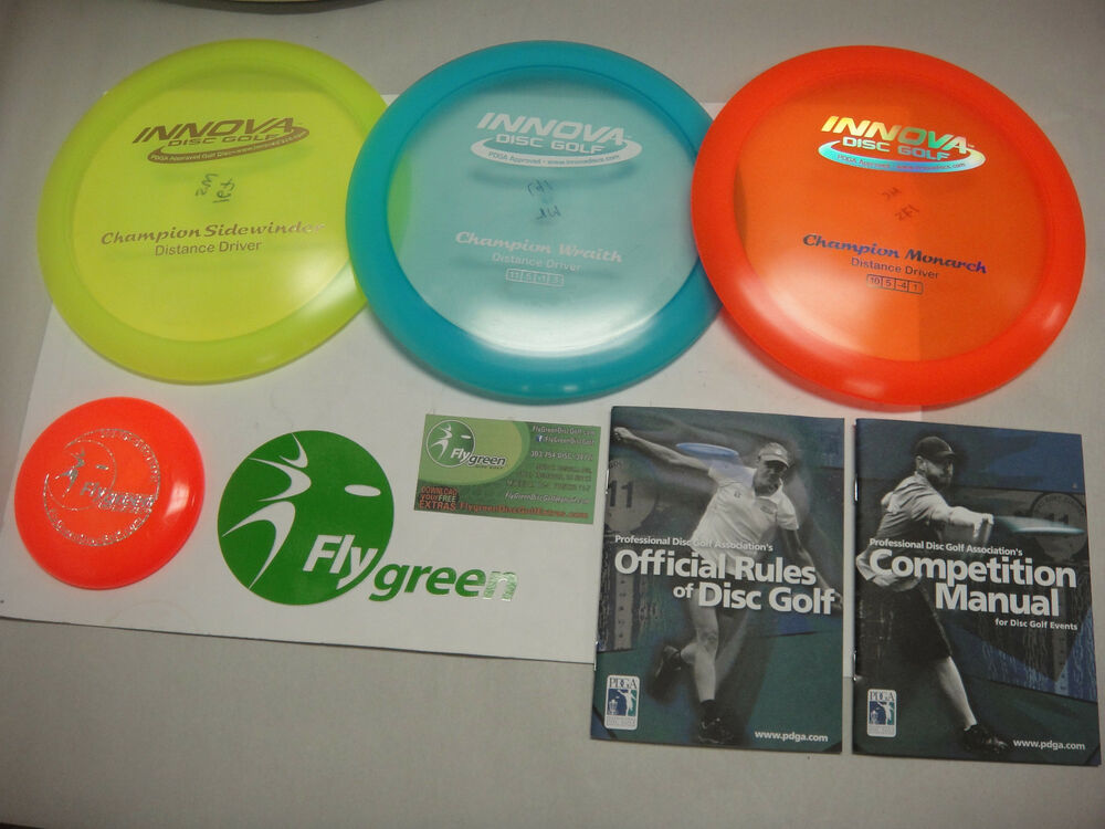 Innova Deluxe Champion Plastic 3 Disc Ultimate Golf Disk