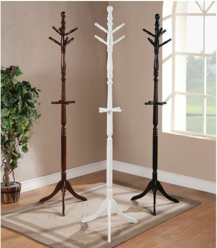 Coat Rack Hat Wood 6 Hooks Clothing Stand Home Office 72