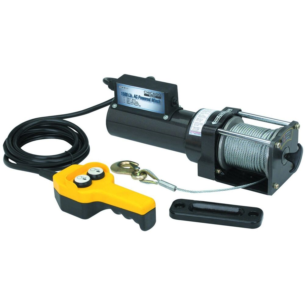 Traveller Winch: 1500 Lb. Capacity 120 Volt AC Remote Controlled Electric