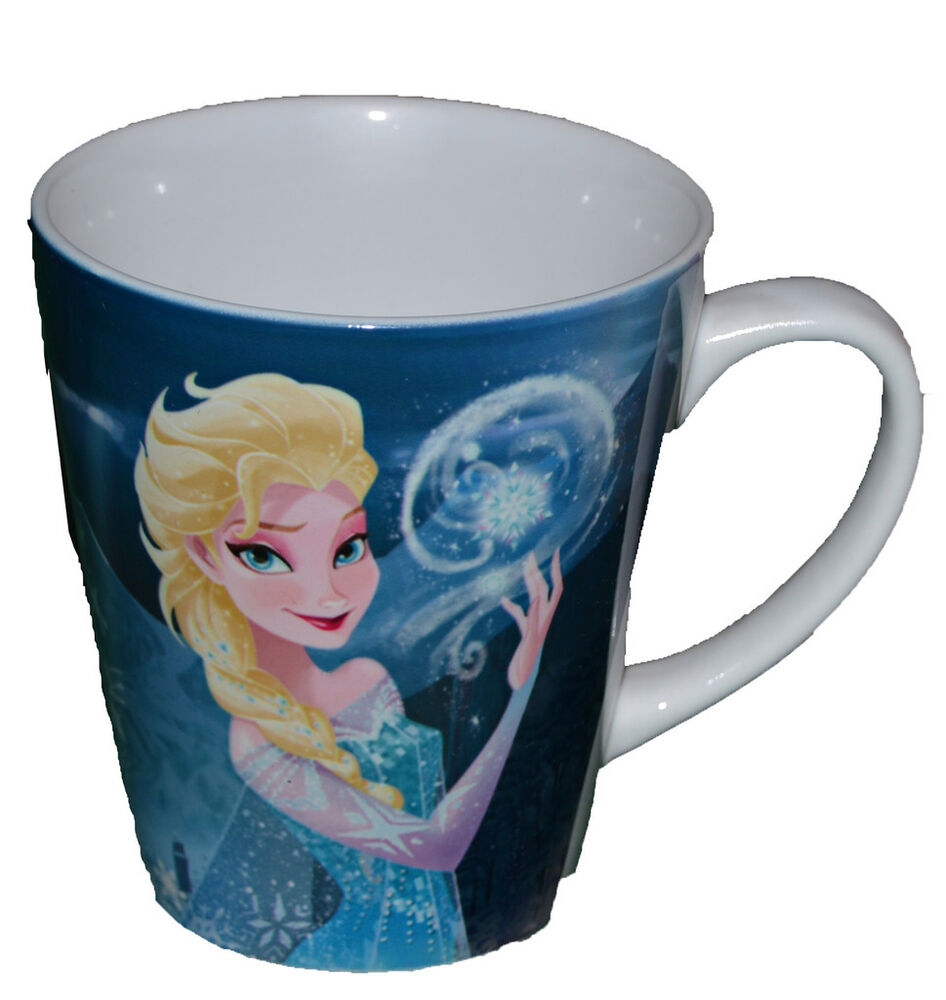 Authentic Disney Frozen Elsa Coffee Cup MUG Microwave Safe +Free ...