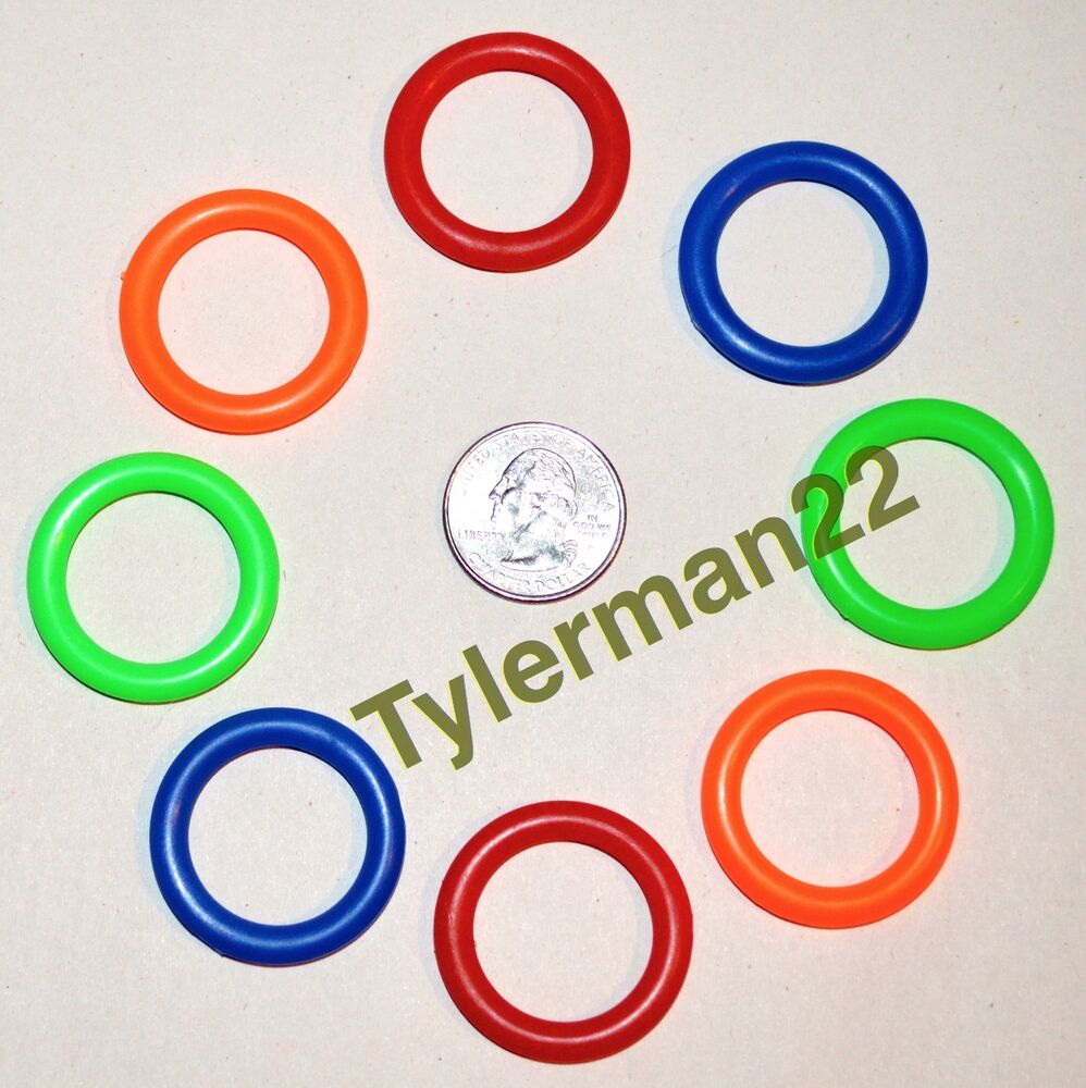 10 bright colorful plastic rings bird parrot foot toys for Large plastic rings for crafts