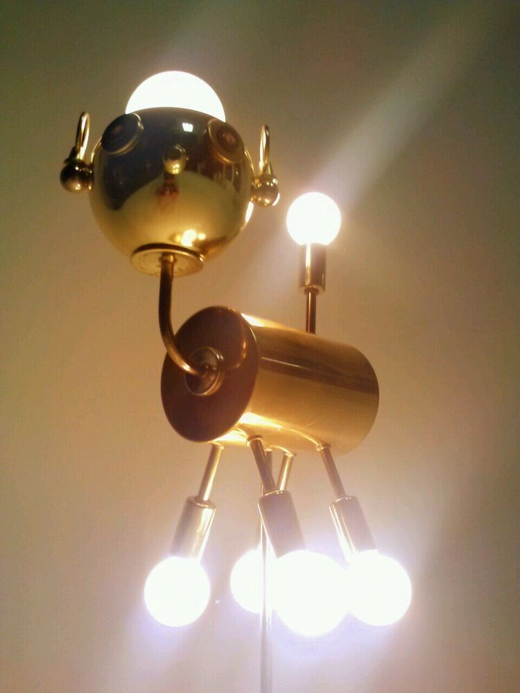 vintage dog puppy atomic ufo lamp light fixture sputnik. Black Bedroom Furniture Sets. Home Design Ideas