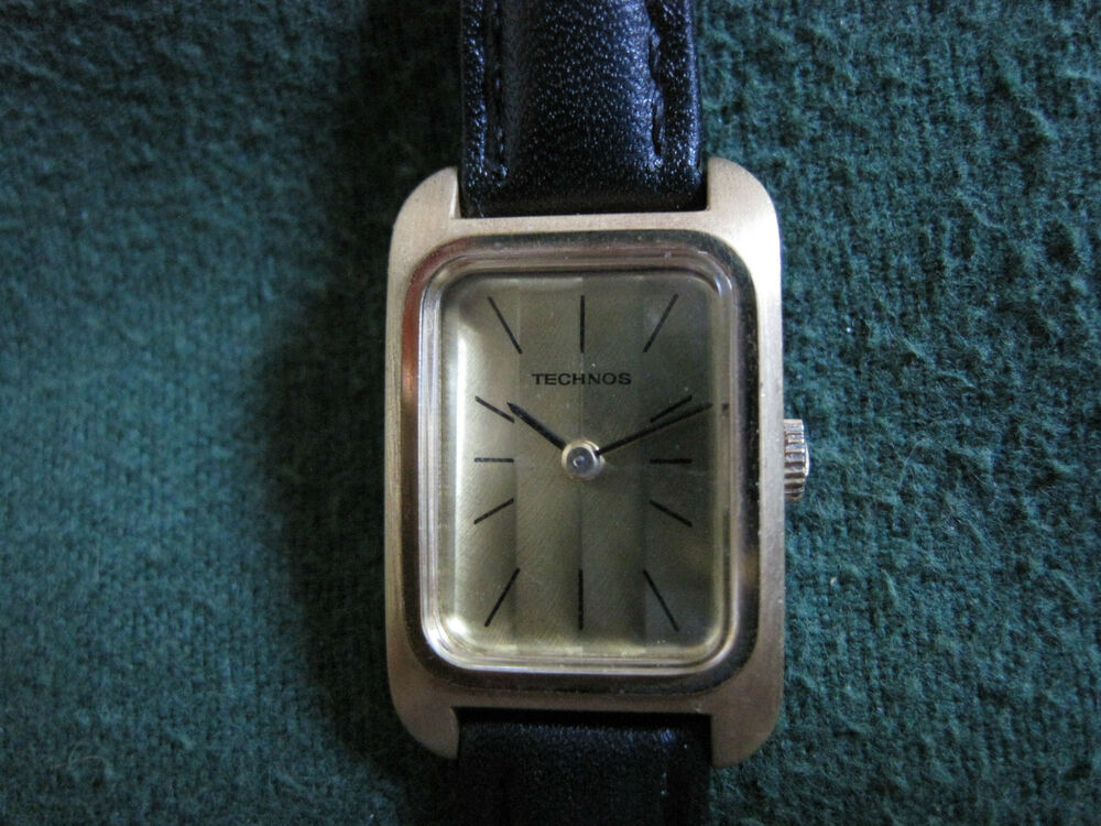 Ladys gold filled 17 jewel swiss technos watch ebay for Technos watches