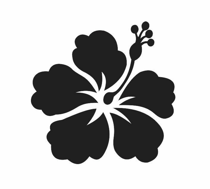 Hibiscus Flower 2 Stencil For Signs Fabric Canvas Walls