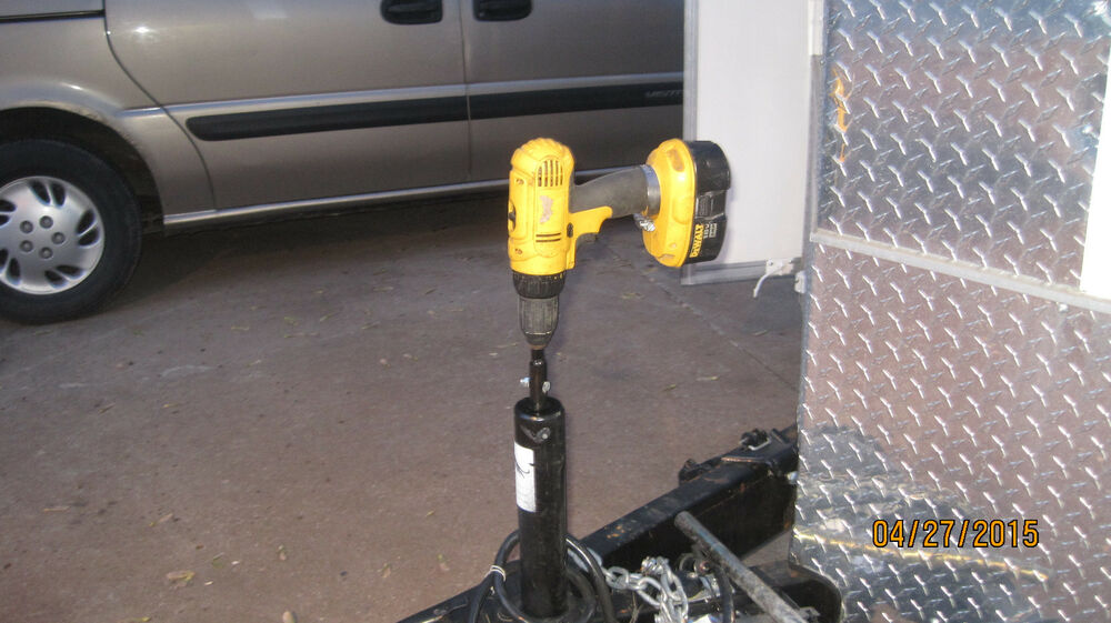 Power your tongue jack with a cordless drill new video for Motor holder trailering stabilizer