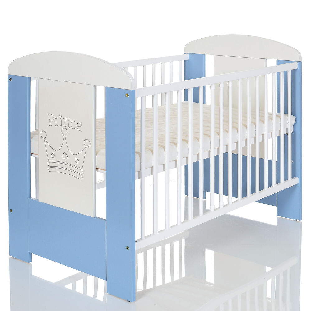 baby kinderbett prinz 120x60 holz gitterbett komplettzimmer matratze weiss lit ebay. Black Bedroom Furniture Sets. Home Design Ideas