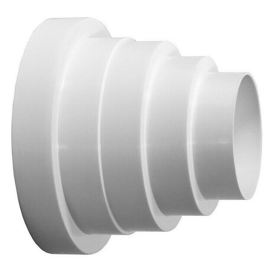 Ducting Pipe Reducer Extractor Fan Connector 80mm 100mm
