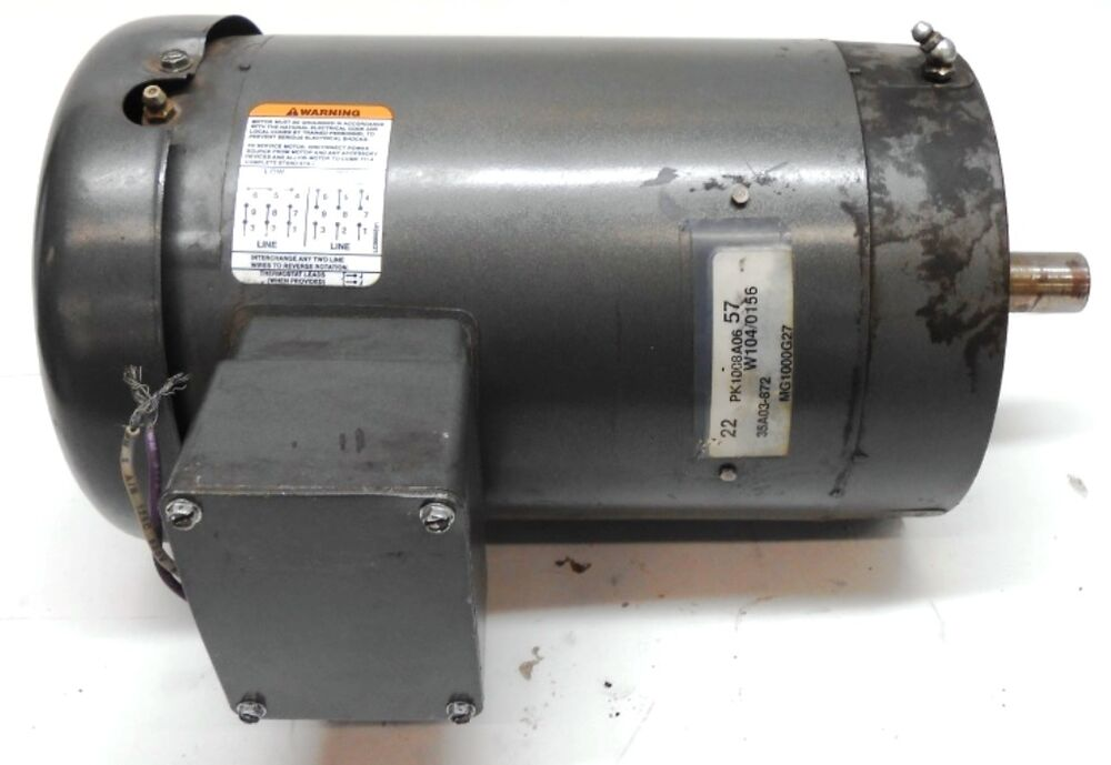 Baldor industrial ac motor 220 440 volts 3 phase 7 8 for 7 5 hp 3 phase motor