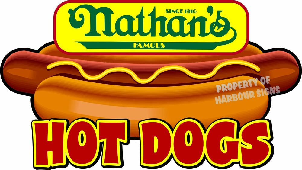 Nathans Hot Dog Stickers