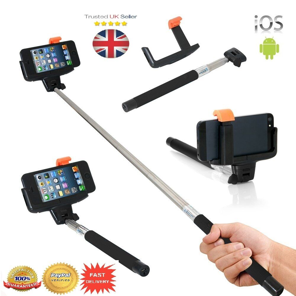 bluetooth monopod telescopic selfie stick for mobile phone iphone camera hold. Black Bedroom Furniture Sets. Home Design Ideas