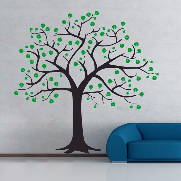 Giant family tree wall sticker vinyl art home decals room for Diy tree wall mural