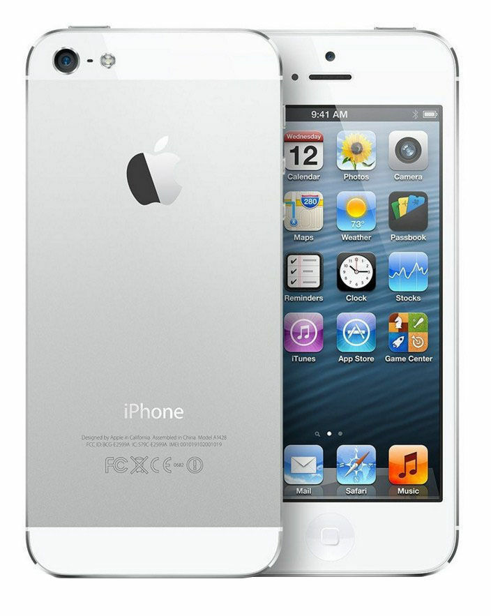 apple iphone 5 16 gb white silver unlocked. Black Bedroom Furniture Sets. Home Design Ideas