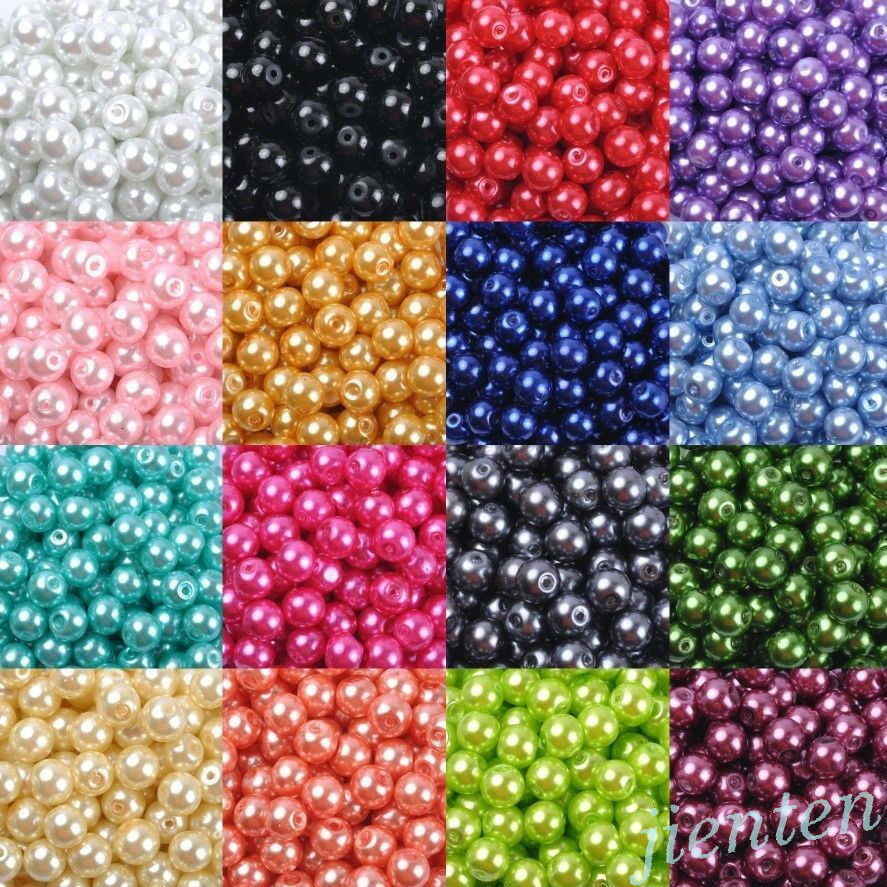 Pearl Beads: Wholesale Acrylic Pearl Round Spacer Loose Beads DIY 4mm