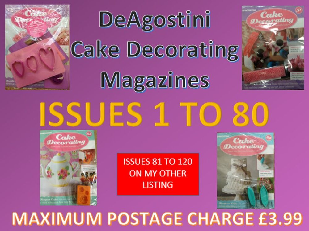 Deagostini Cake Decorating Free Gifts