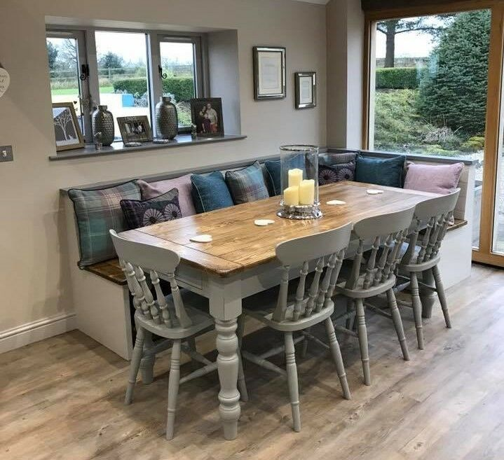 Farmhouse Dining Table And Chairs: Victorian Pine Farmhouse Dining Table And Chairs Made To Order (From £349)