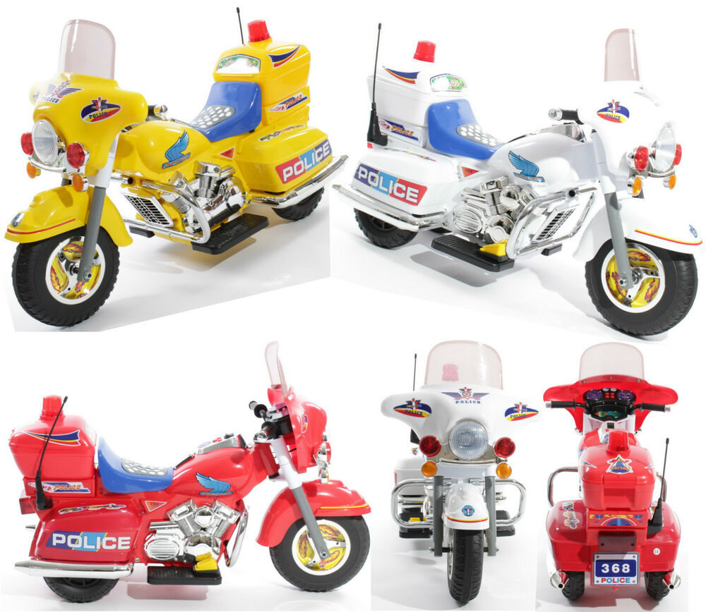 Ride on Kids Police Motorcycle Electric Childs Motorbike ...