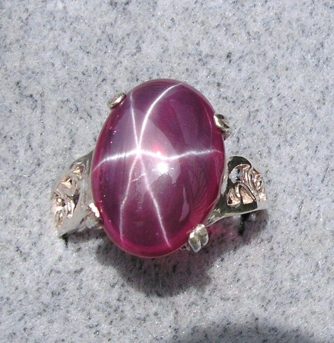 16x12mm 9 Ct Linde Lindy Red Star Sapphire Created Ruby