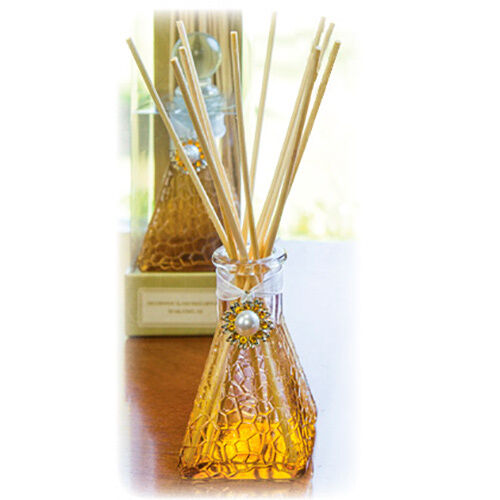 Jasmin freesia scented decorative glass reed diffuser ebay for Decorative diffuser