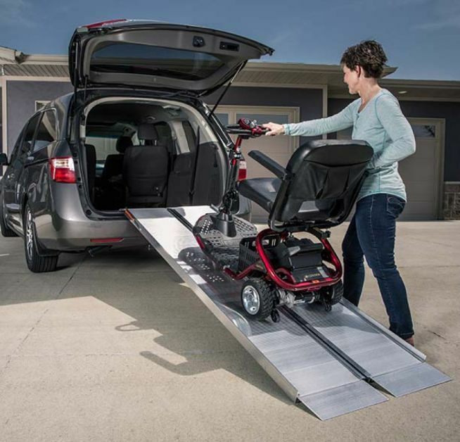 Ez access suitcase singlefold ramp for scooter wheechair vans