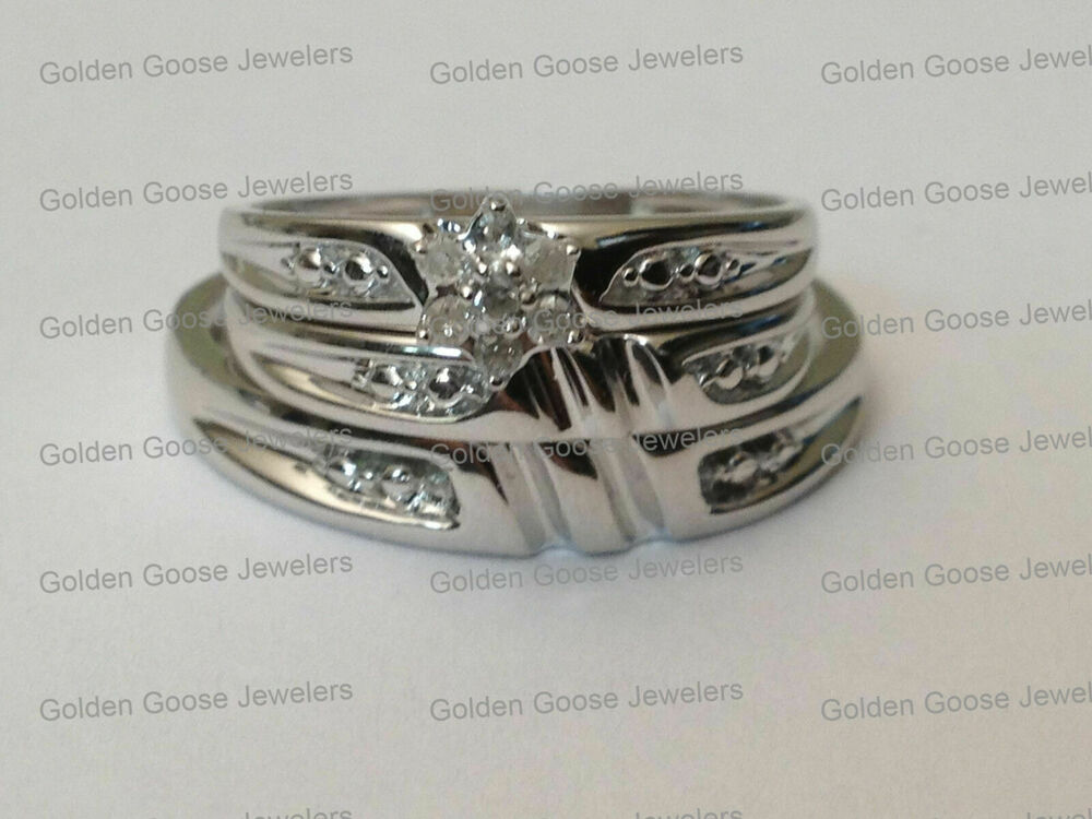 White Gold Wedding Rings For Women With Diamonds Men Womens His ...