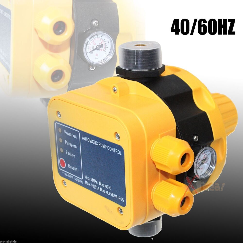 automatic water pump pressure controller electronic pressure switch 110v ebay. Black Bedroom Furniture Sets. Home Design Ideas