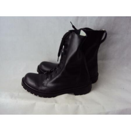 img-NEW Lightweight Military Cadet's Black Leather Boots UK 5-13