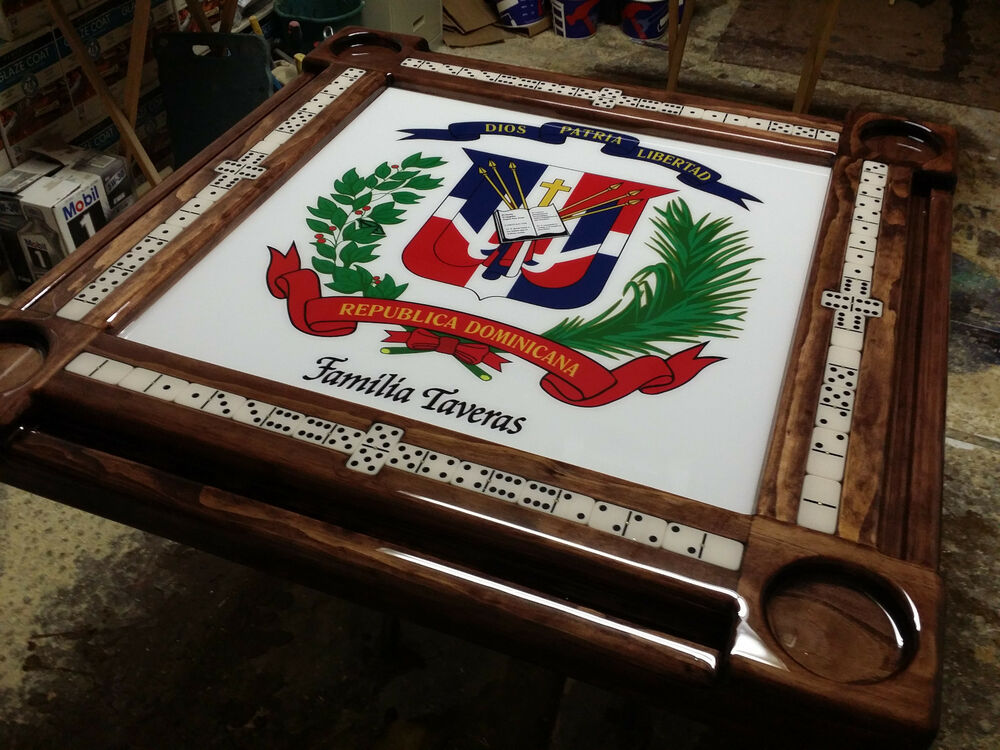 Dominican Republic Domino Table by Domino Tables by Art