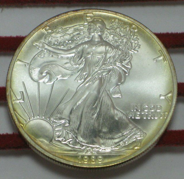1989 American Silver Eagle 1 Oz Silver Uncirculated Coin