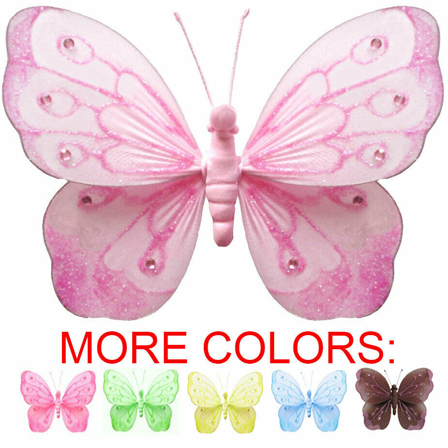 Wall butterflies decoration hanging butterfly baby shower for Baby shower decoration butterfly