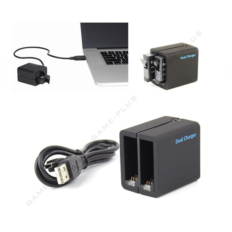 Newest Telesin Usb Dual Battery Charger Charging Dock For