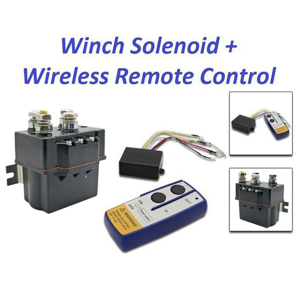 contactor heavy duty solenoid relay wireless remote control offroad winch 12v hd ebay. Black Bedroom Furniture Sets. Home Design Ideas
