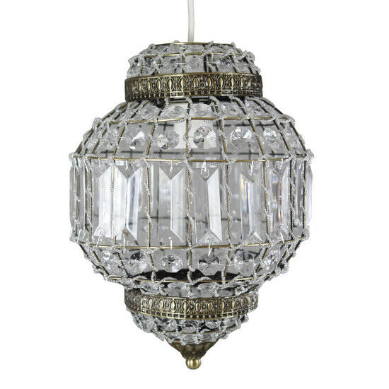 EXOTIC DAZZLING MOROCCAN BEADS AND CRYSTALS PENDANT LIGHT