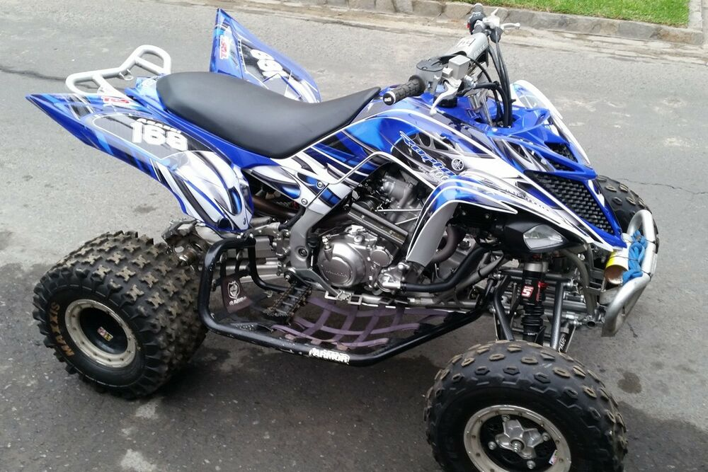 yamaha raptor 700 700r graphics 2013 2014 2015 2016 custom kit 4444 blue ebay. Black Bedroom Furniture Sets. Home Design Ideas