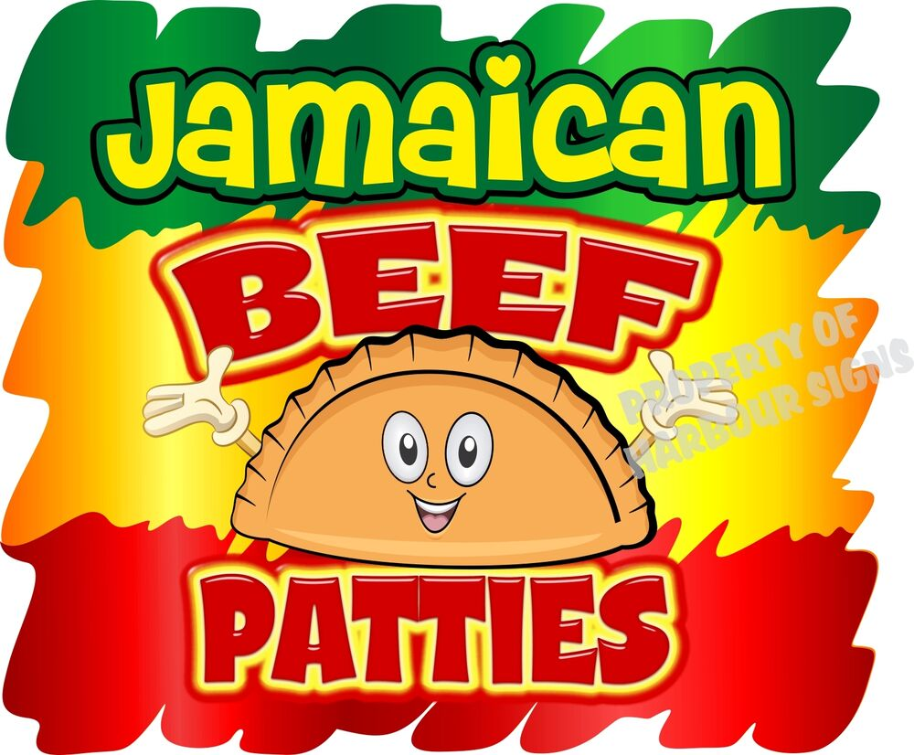 Jamaican Beef Patties Decal 14 Quot Food Truck Restaurant