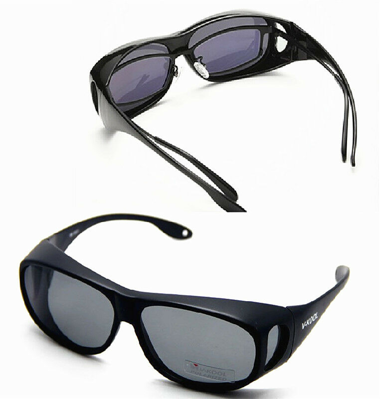 MENS LADIES WEAR PUT FIT OVER SUNGLASSES SHADES POLARISED ...