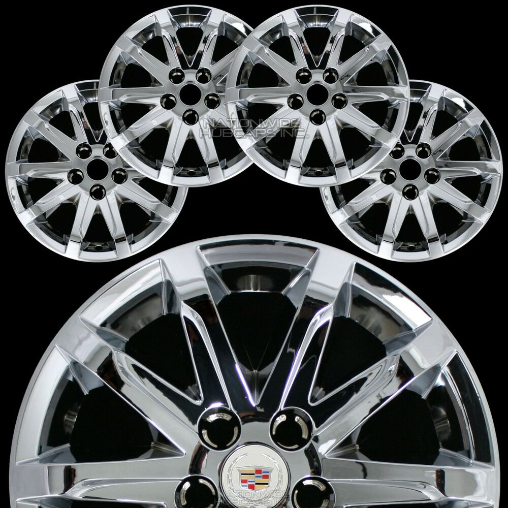 "2014 Cadillac Cts Accessories >> 4 New 2014 15 2016 Cadillac CTS 17"" Chrome Wheel Skins Hub Caps Rim Covers Hubs 