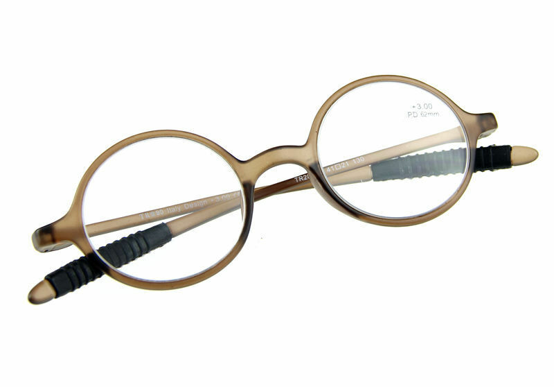 Reading Glasses Large Frame : Vintage Retro Round Oval Reading Glasses Reader Light ...