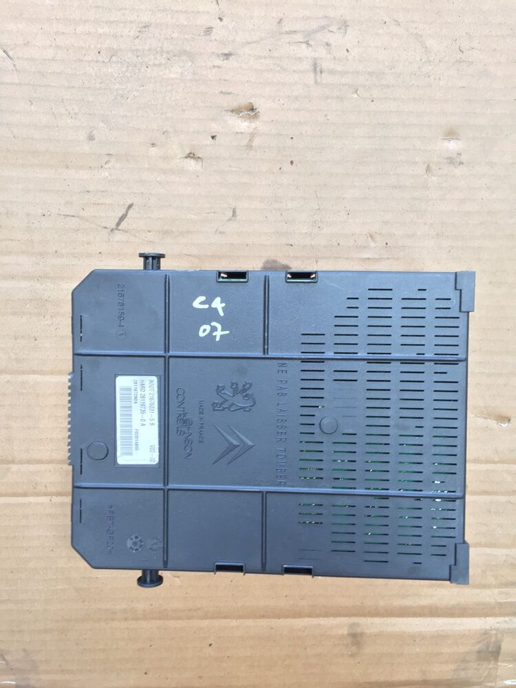 Citroen C4 Picasso Sx Fuse Box In Boot From 2007