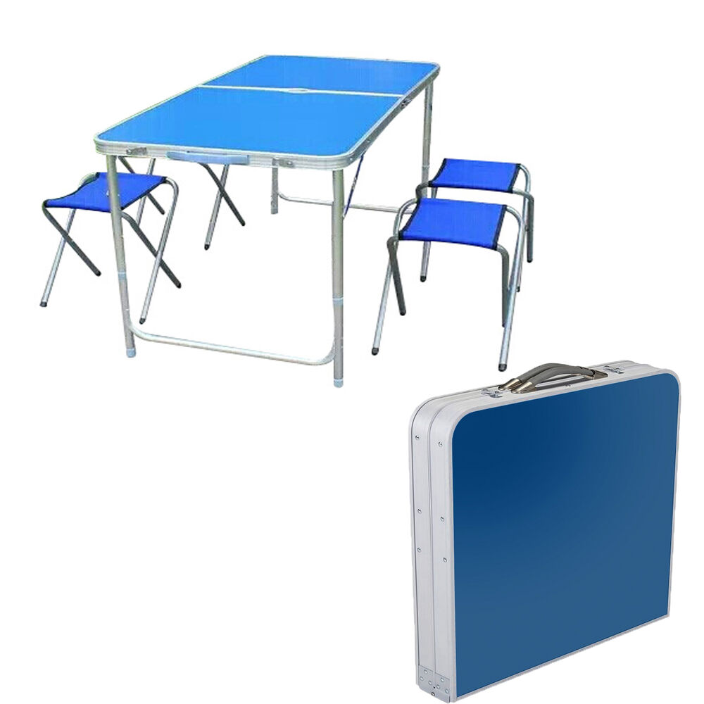 Portable folding camping outdoor bbq garden dinning picnic - Camping picnic table and chairs ...