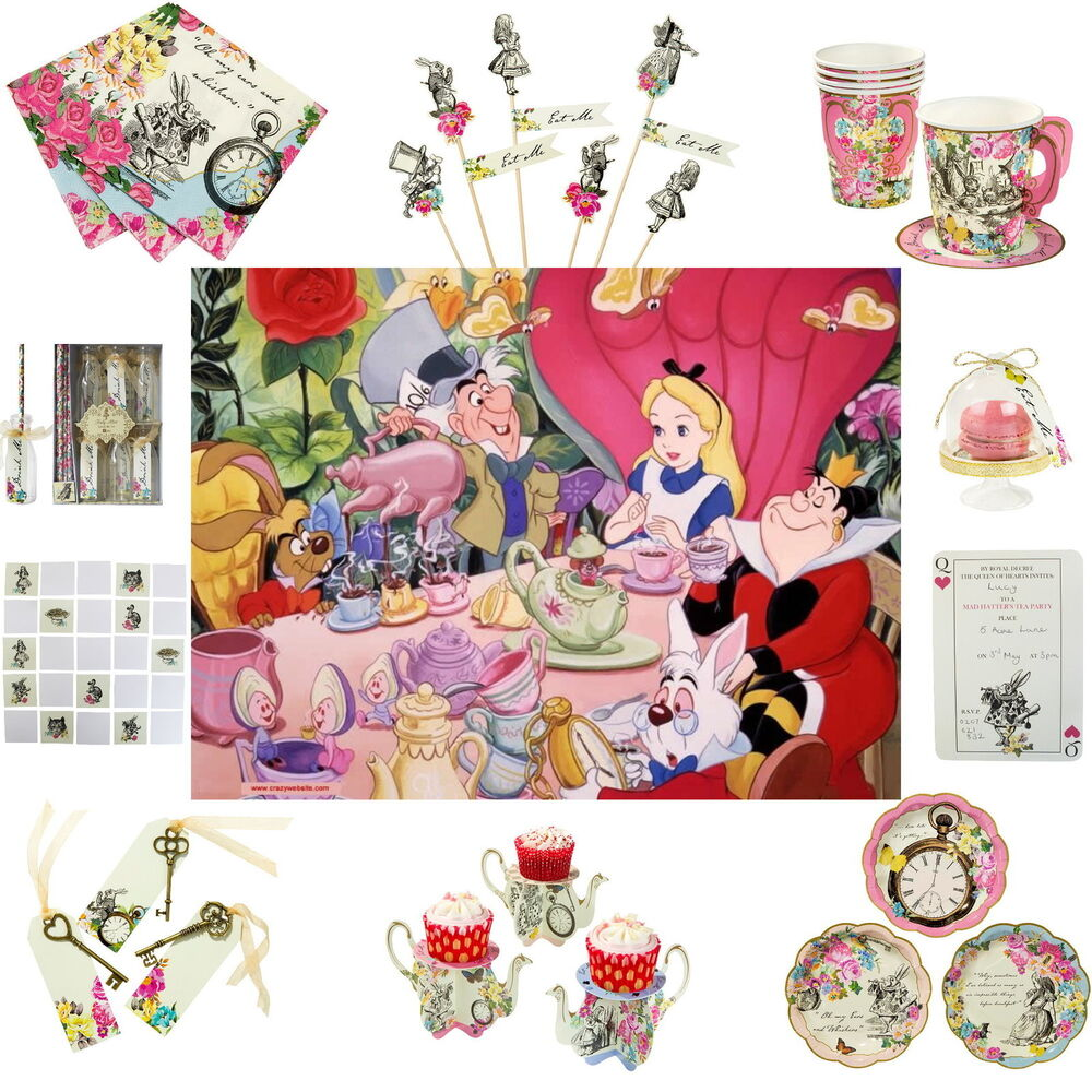 Truly alice in wonderland mad hatter vintage tea party - Alice in wonderland tea party decorations ...