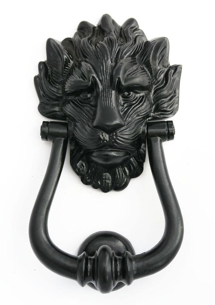 Black cast iron lion s head door knocker number 10 downing for 10 downing street lion authentic foundry door knocker