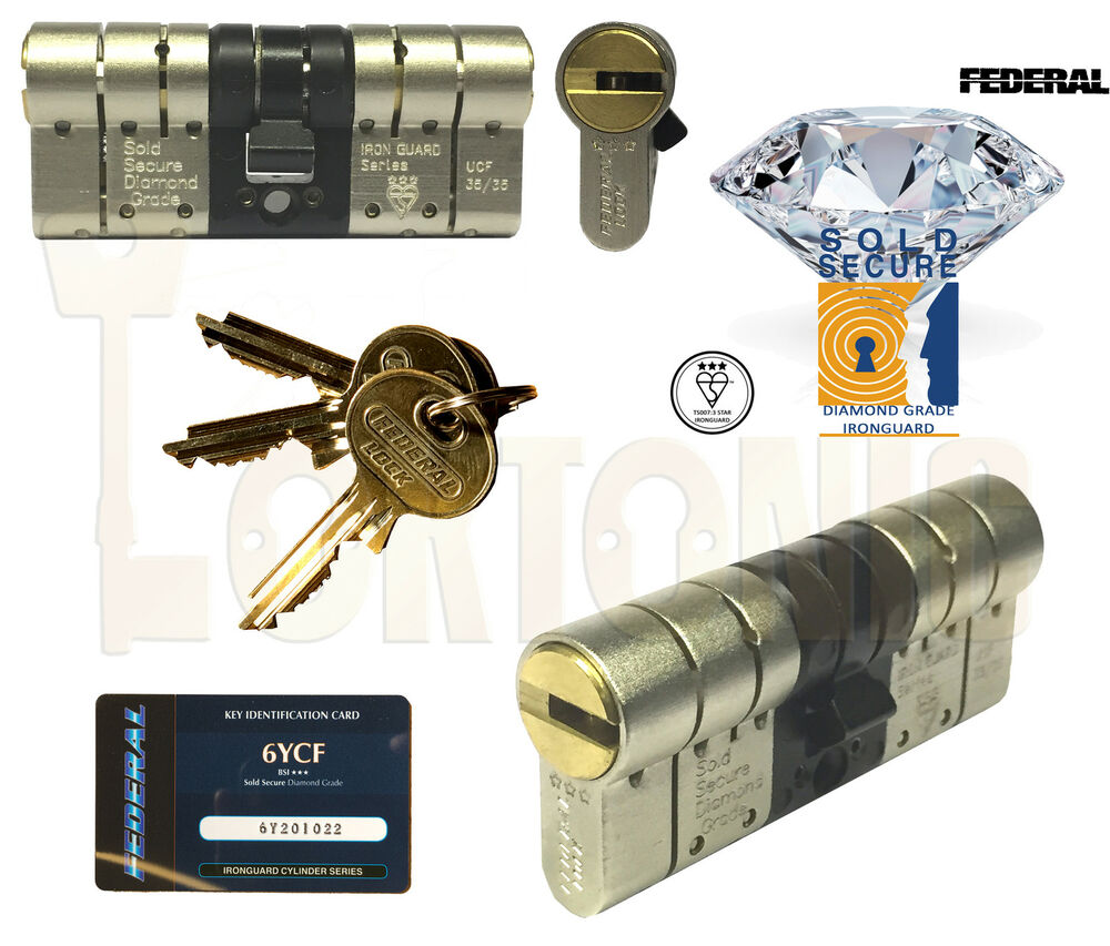Federal 3 Star High Security Euro Cylinder Door Lock Anti