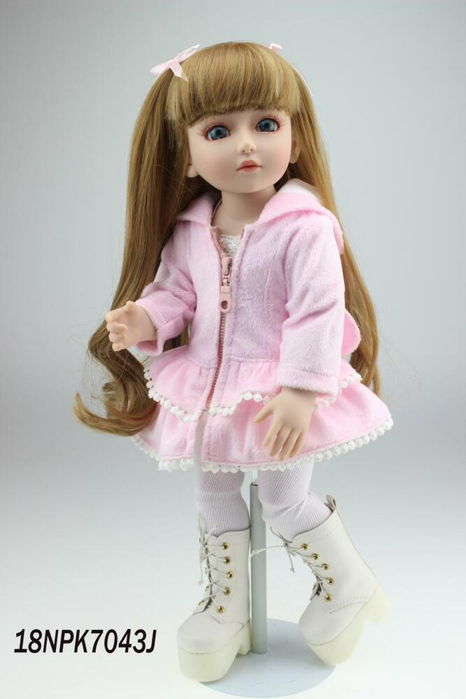 Nicery Bjd Ball Jointed Doll High Vinyl Girl Toy 18in
