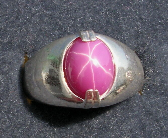 Men S 10x8mm 3 Ct Pink Linde Lindy Star Sapphire Created