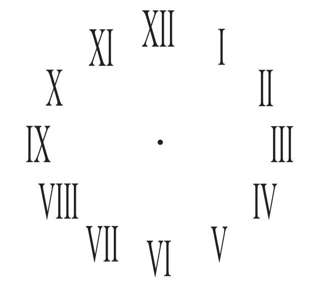 "Clock STENCIL*Roman Numerals Clock 11"" Diameter* For DIY ..."