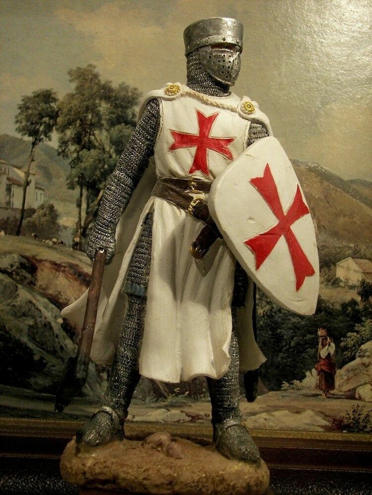 Hand Painted Medieval Crusader Knight With Axe Figure ...